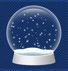 glass snowglobe icon realistic style vector image