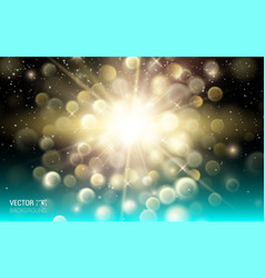 gold firework explosion abstract light background vector image