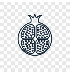half pomegranate concept linear icon isolated on vector image