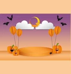 halloween concept podium display vector image