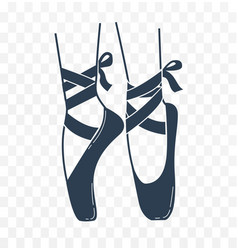 icon ballerinas feet on pointes black and white vector image