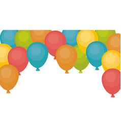 Isolated balloon of celebration design vector
