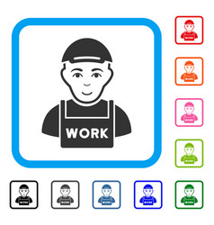 jobless framed glad icon vector image