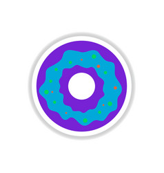 label icon on design sticker collection donut vector image