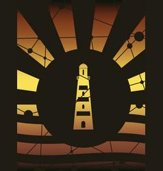 Lighthouse monochrome icon vector
