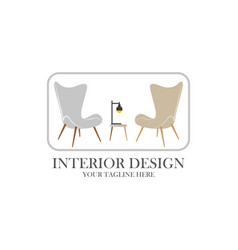 logo furniture design concept symbol and icon vector image