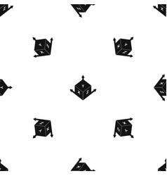 Measurement cube square pattern seamless black vector