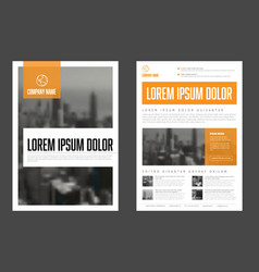 modern orange business corporate brochure flyer vector image