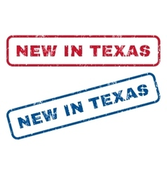New In Texas Rubber Stamps vector image