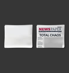 Newspaper headline magazine with print vector