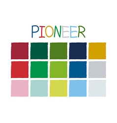 Pioneer Color Tone without Code vector image