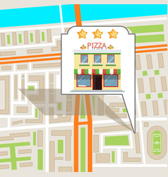 pizza city street road map urban place landmark vector image