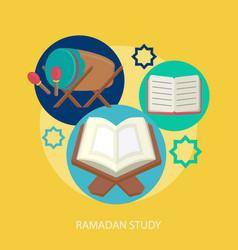 Ramadhan study conceptual design vector