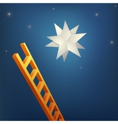 reaching star vector image