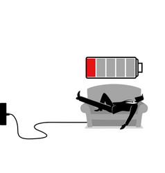 recharging businessman vector image