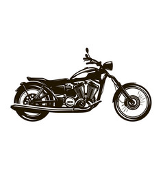Retro motorcycle silhouette vector