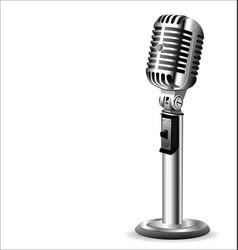 Retro vintage microphone vector