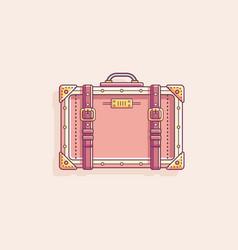 retro vintage suitcase vector image
