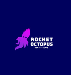 rocket octopus or squid abstract sign vector image