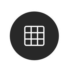 Rubiks cube icon vector