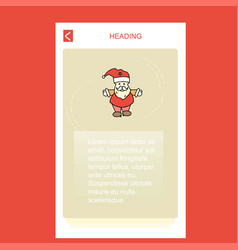 santa clause mobile vertical banner design design vector image