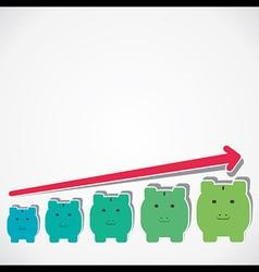 saving money graph vector image