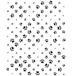 seamless pattern print dogs paws vector image