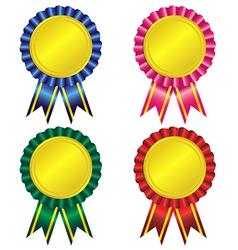 Set award ribbon vector
