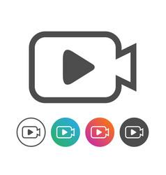 Simple camera video icon symbol design set vector