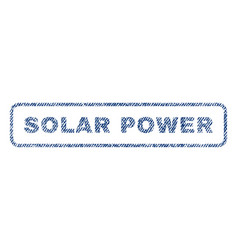 Solar power textile stamp vector