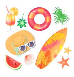 Summer beach party banner placard sample vector