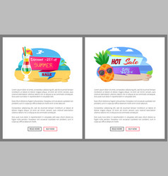 Summer sale and discounts offers and coupons vector