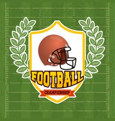Superbowl sport poster with helmet in shield vector