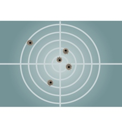 Target and bullet holes vector