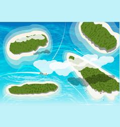 top view few tropical islands vector image