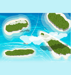 top view of few tropical islands vector image