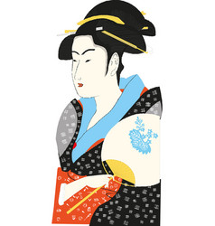 Traditional japanese geisha vector