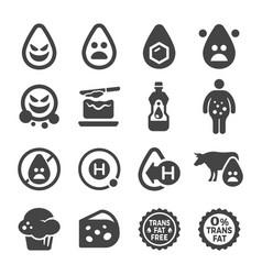transfat icon vector image