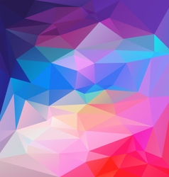 Vibrant blue pink multi colored polygon triangular vector
