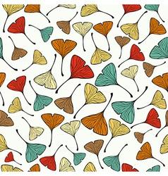 Vintage Ginko biloba Leaf pattern vector