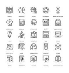 Web design and development icons 3 vector