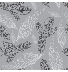 Xmas seamless pattern with pine branch on vector image