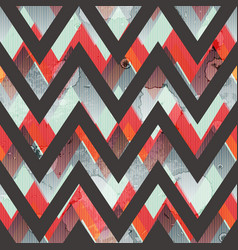 zigzag grunge seamless pattern vector image