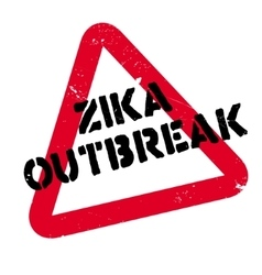 Zika Outbreak rubber stamp vector