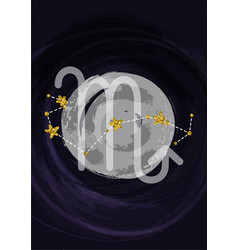 Zodiac scorpio sign a4 print poster with vector