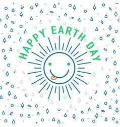 earth day greeting text vector image