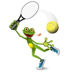 frog tennis player vector image