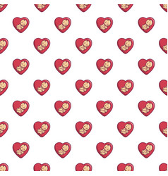 baby love pattern seamless vector image vector image