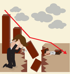 businessman and investment fail vector image