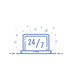 icon online shopping vector image